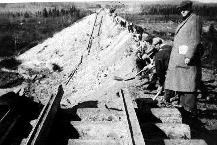 Damage to the railway line by the 1935 Timiskaming earthquake